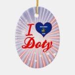 Amo a Doty, Wisconsin Ornamento Para Reyes Magos