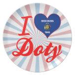 Amo a Doty, Wisconsin Platos Para Fiestas