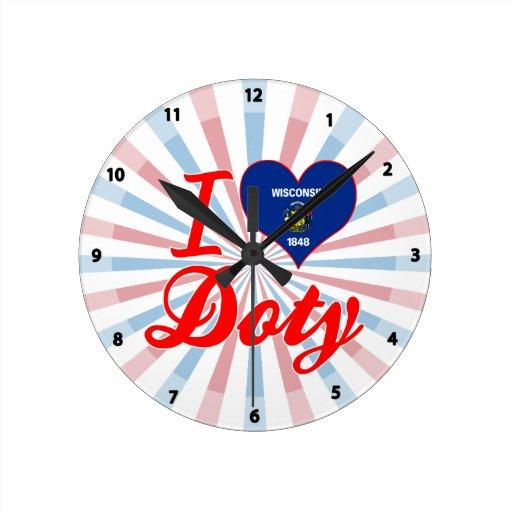 Amo a Doty, Wisconsin Reloj