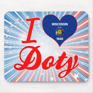 Amo a Doty Wisconsin Alfombrillas De Raton