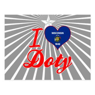 Amo a Doty, Wisconsin Tarjeta Postal