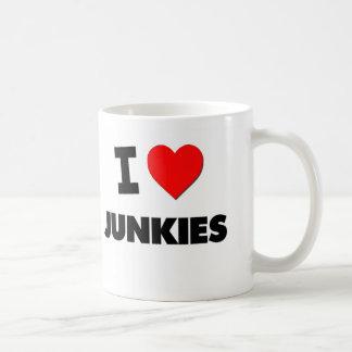 Amo a drogadictos tazas de café