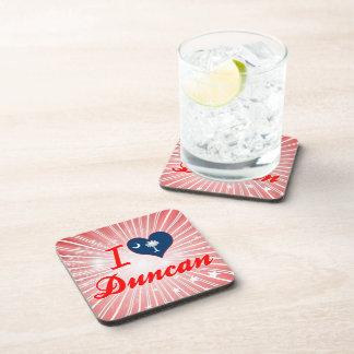 Amo a Duncan, Carolina del Sur Posavasos De Bebidas