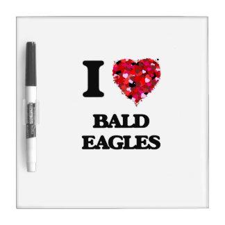 Amo a Eagles calvo Pizarra Blanca
