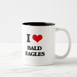 Amo a Eagles calvo Taza De Dos Tonos