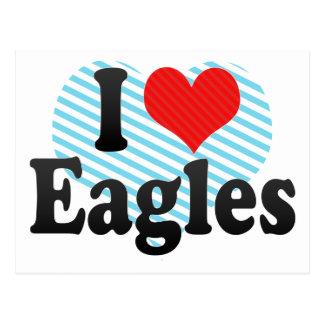 Amo a Eagles Tarjeta Postal