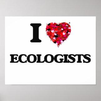 Amo a ecologistas póster