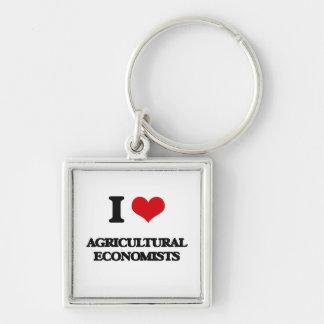 Amo a economistas agrícolas llavero personalizado