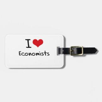 Amo a economistas etiquetas bolsas