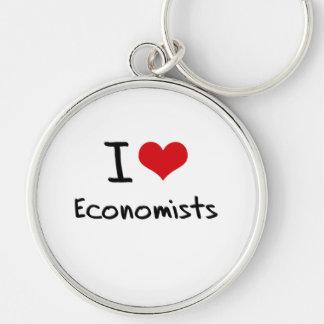 Amo a economistas llavero