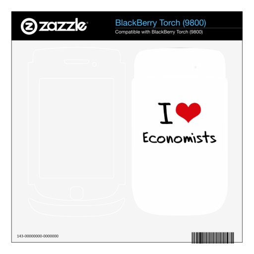 Amo a economistas skins para BlackBerry torch