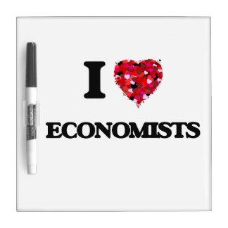 Amo a economistas tableros blancos