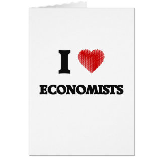 Amo a ECONOMISTAS Tarjeta De Felicitación