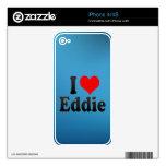 Amo a Eddie iPhone 4 Calcomanías