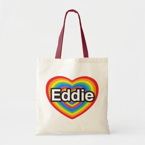 Amo a Eddie. Te amo Eddie. Corazón Bolsas De Mano
