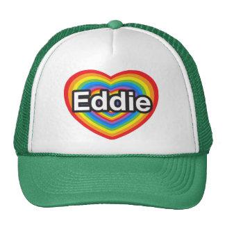 Amo a Eddie. Te amo Eddie. Corazón Gorro
