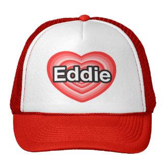 Amo a Eddie. Te amo Eddie. Corazón Gorra
