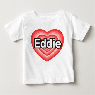 Amo a Eddie. Te amo Eddie. Corazón T Shirt