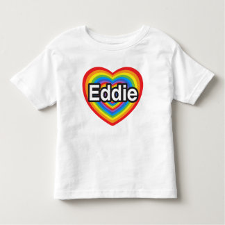 Amo a Eddie. Te amo Eddie. Corazón Tee Shirt