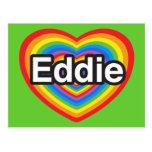 Amo a Eddie. Te amo Eddie. Corazón Postales