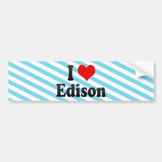 Amo a Edison, Estados Unidos Pegatina Para Auto