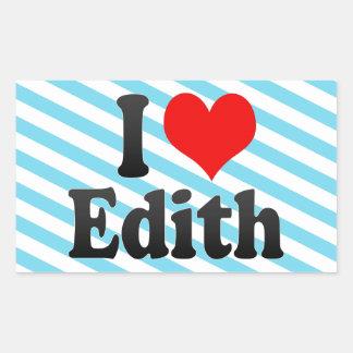 Amo a Edith Rectangular Altavoces