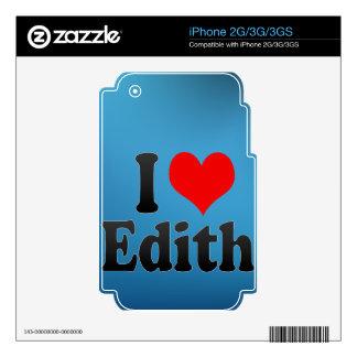 Amo a Edith Calcomanías Para El iPhone 3GS