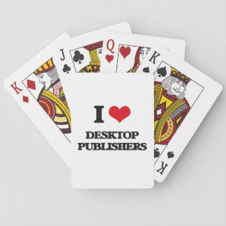 Amo a editores de escritorio baraja de cartas