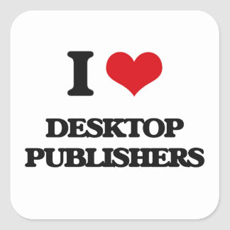 Amo a editores de escritorio colcomanias cuadradases