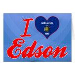 Amo a Edson, Wisconsin Felicitacion