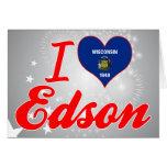 Amo a Edson, Wisconsin Felicitación