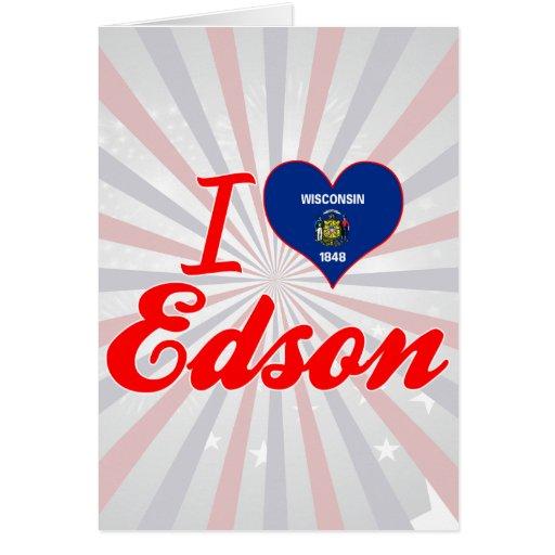 Amo a Edson, Wisconsin Tarjeta