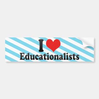 Amo a educadores etiqueta de parachoque
