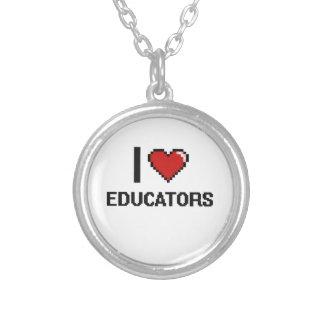 Amo a educadores colgante redondo