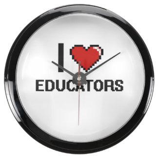 Amo a educadores relojes aqua clock