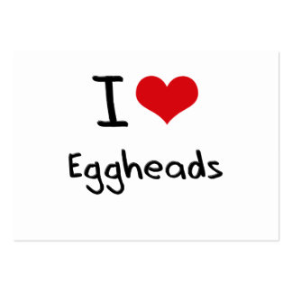 Amo a Eggheads Tarjetas De Visita Grandes