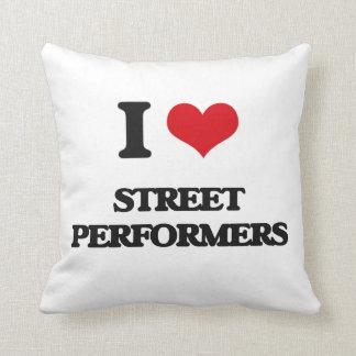 Amo a ejecutantes de la calle almohada