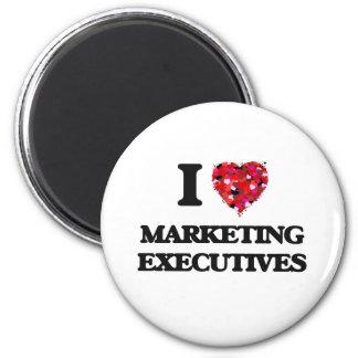 Amo a ejecutivos de marketing imán redondo 5 cm