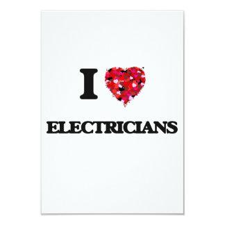 "Amo a ELECTRICISTAS Invitación 3.5"" X 5"""