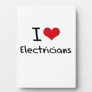 Amo a electricistas placas