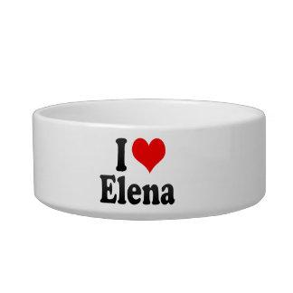 Amo a Elena Tazones Para Comida Para Gato