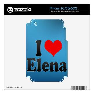 Amo a Elena Calcomanía Para El iPhone 2G