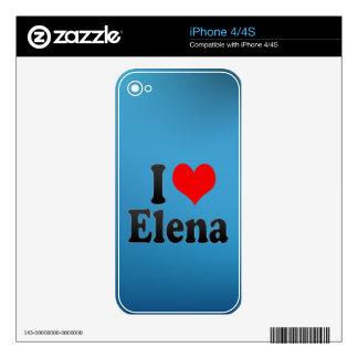 Amo a Elena iPhone 4S Calcomanías