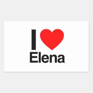amo a Elena Pegatina Rectangular