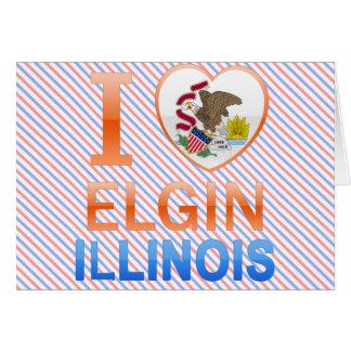 Amo a Elgin, IL Tarjeta De Felicitación