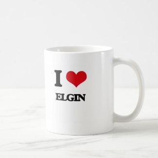 Amo a Elgin Taza Básica Blanca
