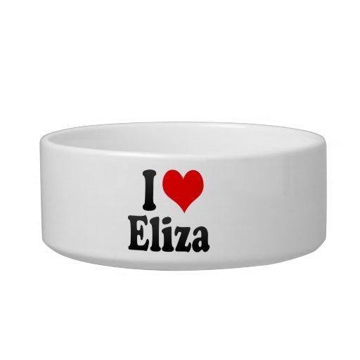 Amo a Eliza Tazones Para Agua Para Gatos