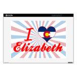 Amo a Elizabeth, Colorado Calcomanía Para Portátil