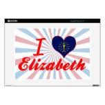 Amo a Elizabeth, Indiana Portátil 38,1cm Skin