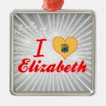Amo a Elizabeth, New Jersey Adornos De Navidad